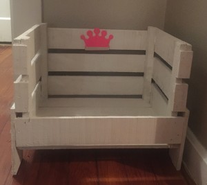 ($30) Painted White (with your choice of blue or pink emblem- write the name of your little one here)--- $30