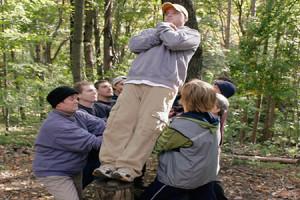 Trusting others, falling backwards, catching, success, Jon Sage